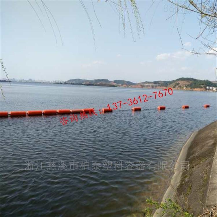 九江水库拦污浮子河道导污排