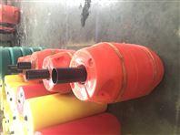 圆柱体夹管塑料浮筒80公分疏浚管线浮子批发